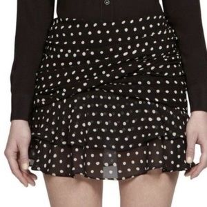 YSL polka dot mini skirt.